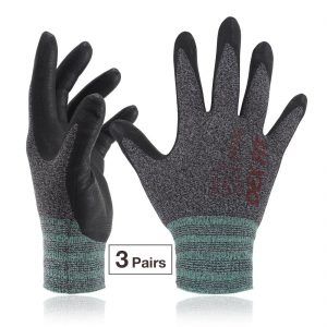 DEXFIT パワーグリップニトリル作業手袋 FN 330 3双 強力なグリップ 精密作業 運転 物流 配送 登山 釣り サイクリング