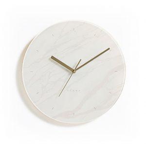 Mallard clock 時計 マーブルパターン クロック 大理石 ホワイト おしゃれなインテリア 大理石 シンプルでクールな時計 壁掛け時計 掛け時計 置き時計 柱時計 ブラック 大小 インテリアクロック デザイン時計